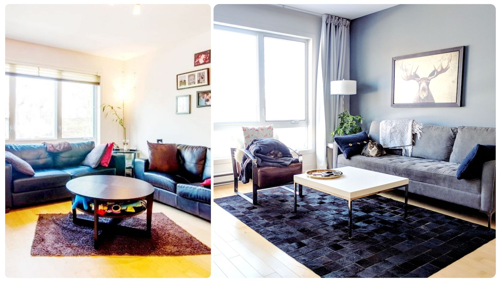 Photo Deco Avant Apres rénovation et décoration de mon condo (avant et après